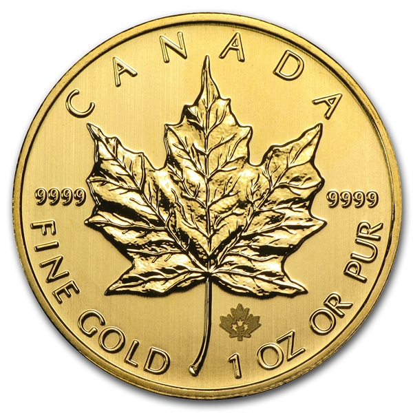 Canadian Gold Maple Leaf - Gold Price OZ