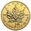 Canadian Gold Maple Leaf Reverse